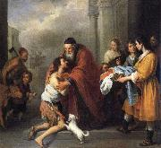 Bartolome Esteban Murillo Return of the Prodigal Son oil painting reproduction