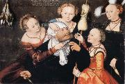 CRANACH, Lucas the Elder Hercules and Omphale oil painting reproduction