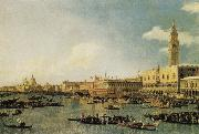 Canaletto Venice:The Basin of San Marco on Ascension Day oil painting reproduction