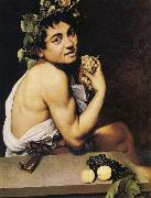Caravaggio The Young Bacchus oil painting reproduction