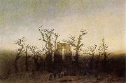Caspar David Friedrich Abbey under Oak Trees oil painting reproduction