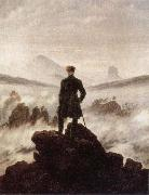 Wanderer Watching a sea of fog
