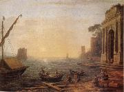 Claude Lorrain Seaport at Sunrise