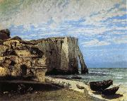 Courbet, Gustave The Cliff at Etretat after the Storm oil painting reproduction