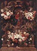 Daniel Seghers Floral Wreath with Madonna and Child oil painting