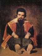 A Dwarf Sitting on the Floor