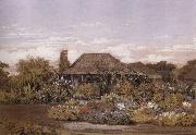 Edward La Trobe Bateman The homestead,Cape Schanck oil painting