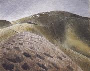 Eric Ravilious The Vale of the White Horse oil painting