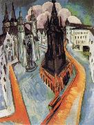 Ernst Ludwig Kirchner The Red Tower in Halle