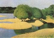 Felix  Vallotton Sandbanks on the Loire oil painting artist