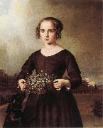 Ferdinand von Rayski Portrait of a Young Girl