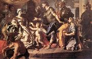 Francesco Solimena Dido Receiveng Aeneas and Cupid Disguised as Ascanius oil painting reproduction