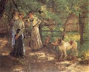 Fritz von Uhde In the Garden oil painting reproduction