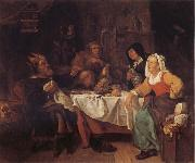 Gabriel Metsu The King Drinks oil painting reproduction