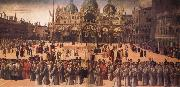 Gentile Bellini Procession in St Mark's Square oil painting