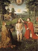 Gerard David The Baptism of Christ oil painting reproduction