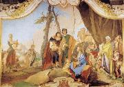 Giovanni Battista Tiepolo Rachel Hiding the Idols from her Father Laban oil painting reproduction