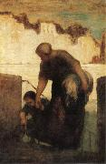 Honore Daumier The Washerwoman oil painting