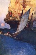 Howard Pyle An Attack on a Galleon oil painting