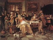 Jan Steen The Bean Feast oil painting reproduction