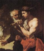 Johann Carl Loth Mercury piping to Argus oil painting