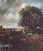 John Constable Flatford Lock 19April 1823