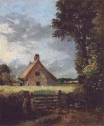 John Constable A cottage in a cornfield oil painting artist