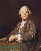 Joseph Siffred Duplessis Portrait of Christoph Willibald Gluck oil painting