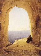 Karl Blechen Monks at the Gulf of Naples oil painting