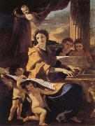 Nicolas Poussin St Cecilia oil painting reproduction