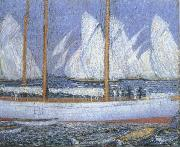 A Procession of Yachts