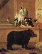 Pietro Longhi The Rhinoceros oil painting on canvas