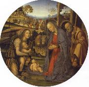 Nativity with an Angel and St.John