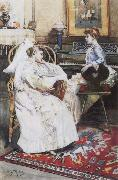 unknow artist The convalescent oil painting reproduction