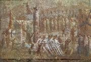 Wall painting from Pompeii showing the story of the Trojan Horse