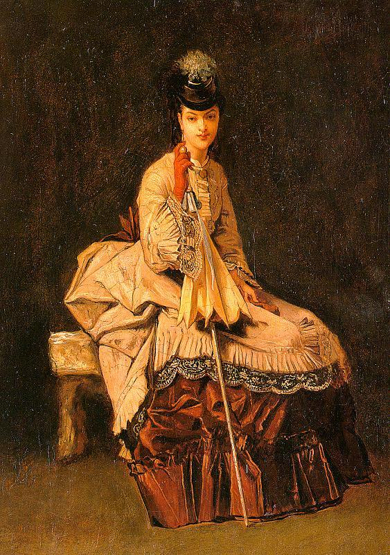 Jules-Adolphe Goupil Lady Seated oil painting picture