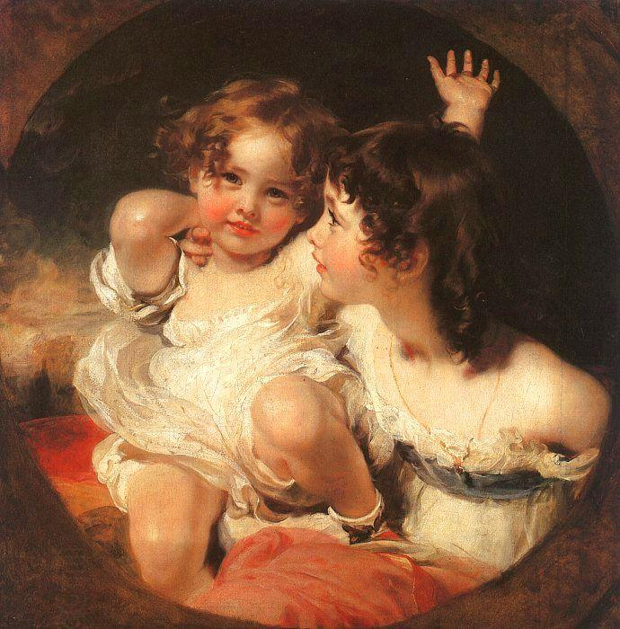 Sir Thomas Lawrence The Calmady Children oil painting picture