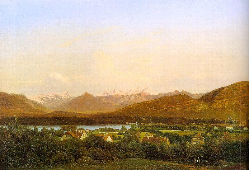 Alexandre Calame View of Geneva from Petit-Saconnex