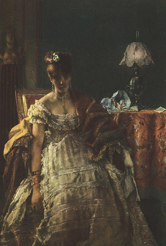 Alfred Stevens The Desperate Woman