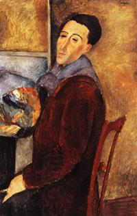 Amedeo Modigliani self portrait oil painting picture