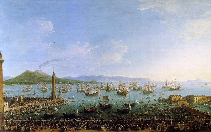 Antonio Joli The Embarkation of Charles III in the Port of Naples