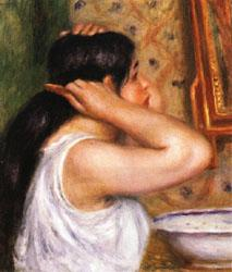 Auguste renoir The Toilette Woman Combing Her Hair