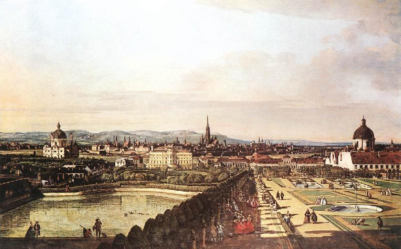 BELLOTTO, Bernardo View of Vienna from the Belvedere hjhk