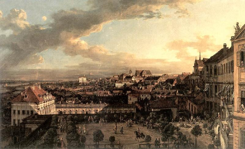 BELLOTTO, Bernardo View of Warsaw from the Royal Palace nl