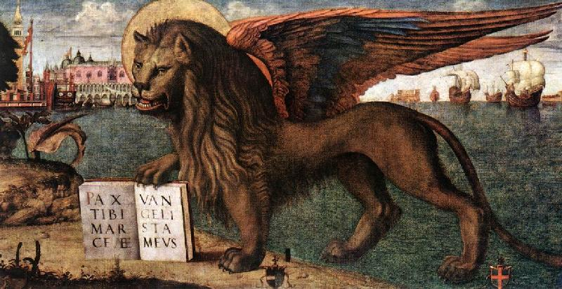 CARPACCIO, Vittore The Lion of St Mark (detail) dsf