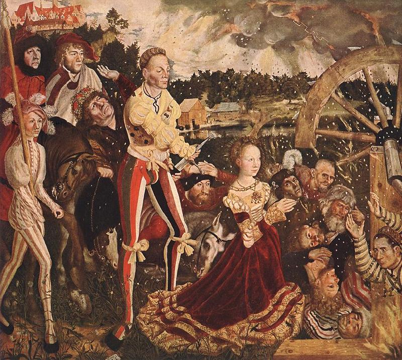 CRANACH, Lucas the Elder The Martyrdom of St Catherine fd