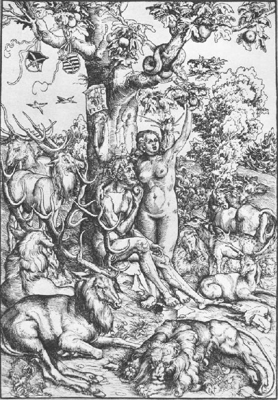 CRANACH, Lucas the Elder Adam and Eve 07 oil painting picture