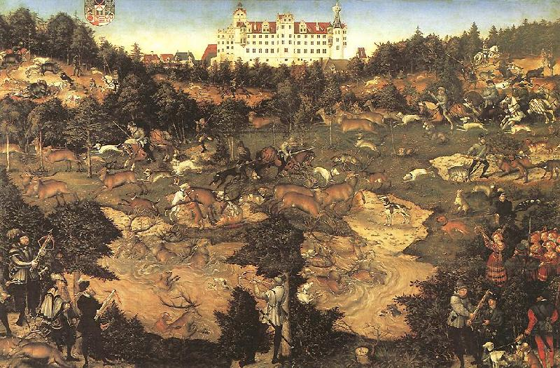CRANACH, Lucas the Elder Hunt in Honour of Charles V at the Castle of Torgau ghj