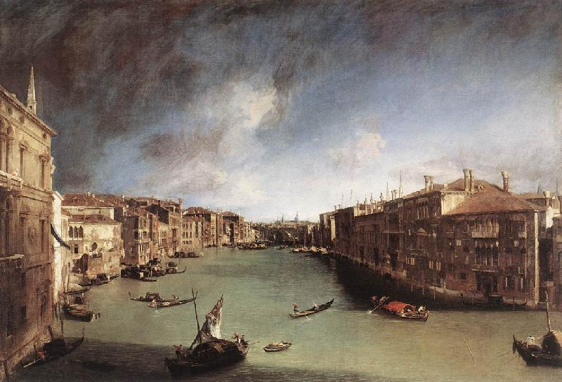 Canaletto Grand Canal, Looking Northeast from Palazo Balbi toward the Rialto Bridge
