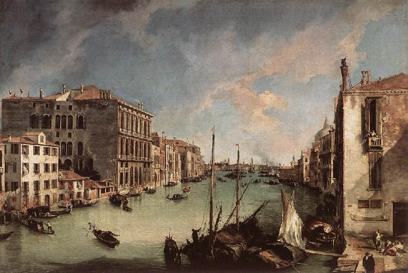 Canaletto Grand Canal, Looking East from the Campo San Vio